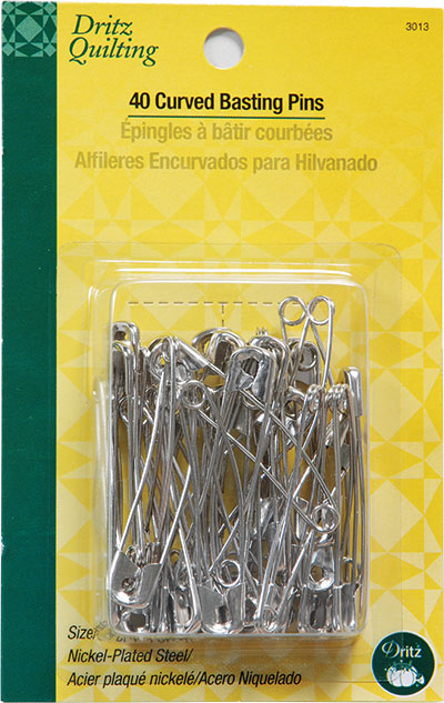 Curved Basting Pins, 2 inch (size 3), 40 pcs