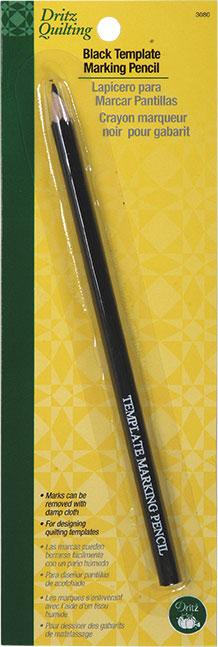 Pencil Dritz Black Template Marking Pencil