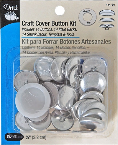 Craft Cover Button Kit 7/8 in