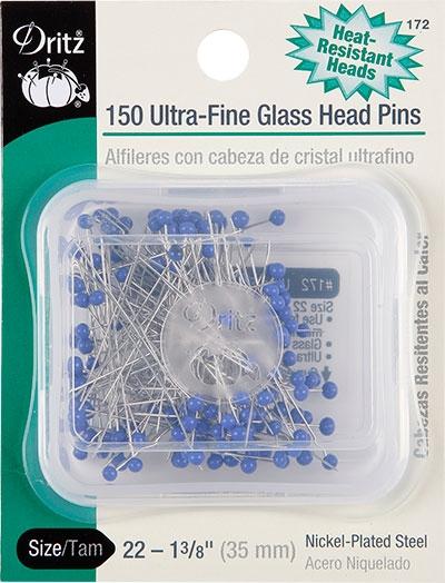 Ultra-Fine Glass Head Pins Size 22