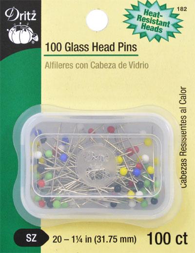 Glass Head Pins Size 20