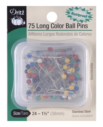 Color Ball Pins Long Size 24