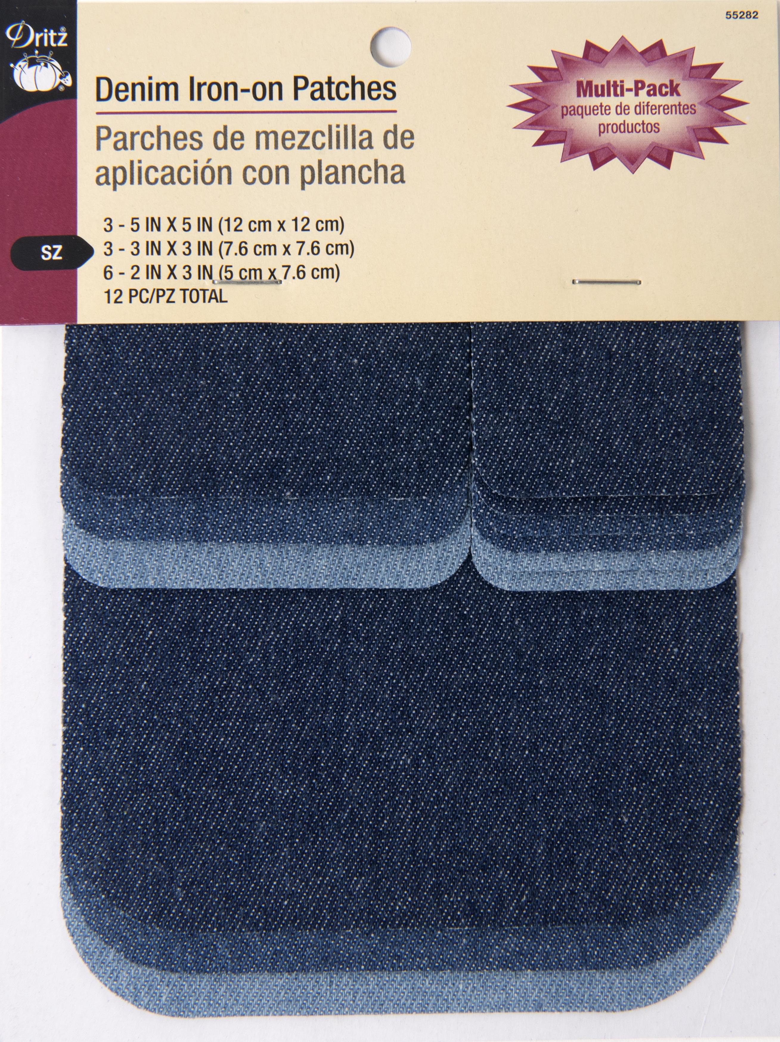 Denim Iron-On Patches-55282