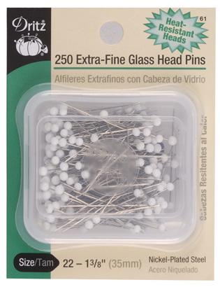 Extra-Fine Glasshead Pins Size 22