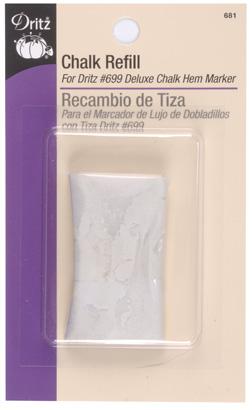 Chalk Refill - White - for Dritz #699 Deluxe Chalk Hem Marker