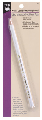 Dritz Water Soluble Mark Pencil White