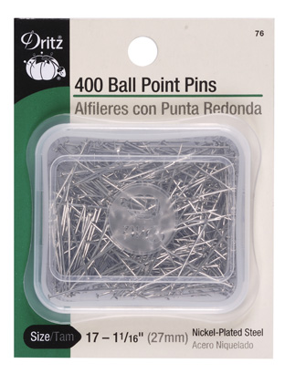 Ball Point Pins Size 17, 1 1/16 400ct