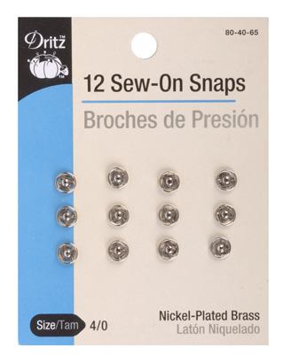 Snap Sew-On Nickel T-Tam 4/0