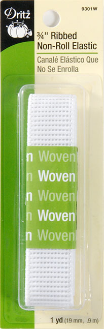 Ribbed Non-Roll Elastic 3/4 Inch
