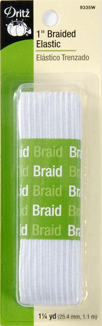 Dritz - Braided Elastic 1 Inch White