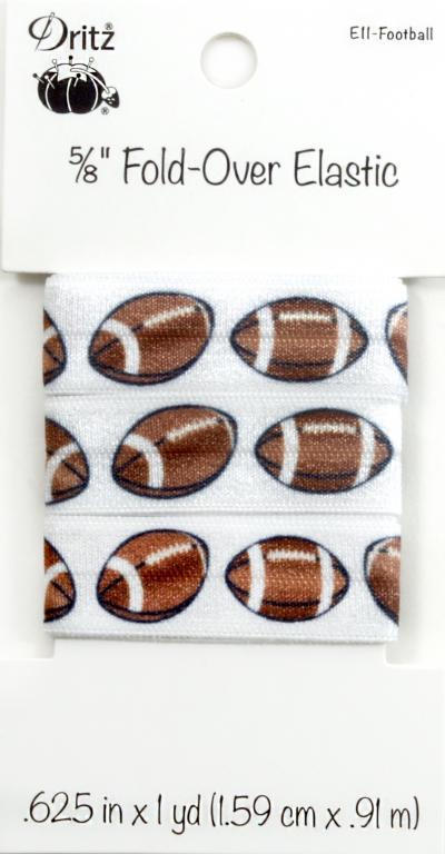 5/8 Inch Fold-Over Elastic footballs
