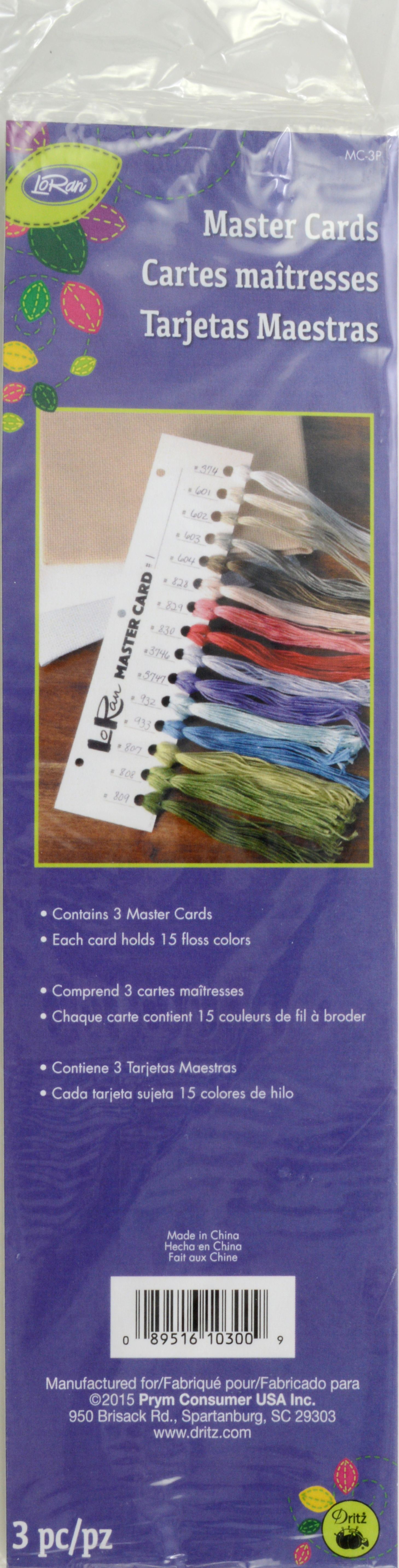 Embroidery Floss Master Cards