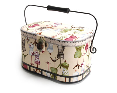 Dressform Sewing Basket