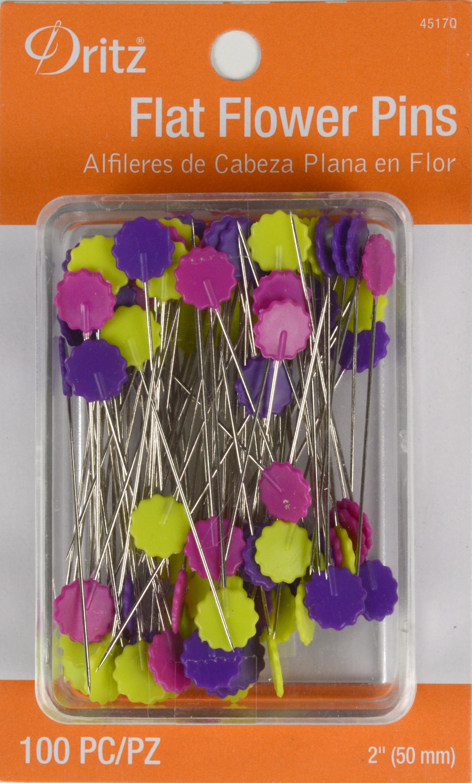 Dritz Flat Flower Pins