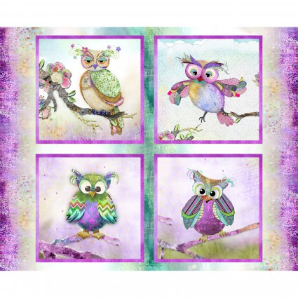 Connie Haley - Boho Owls - Multi Panel