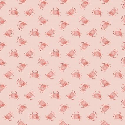 Playful Cuties III Pink Crabs - Flannel