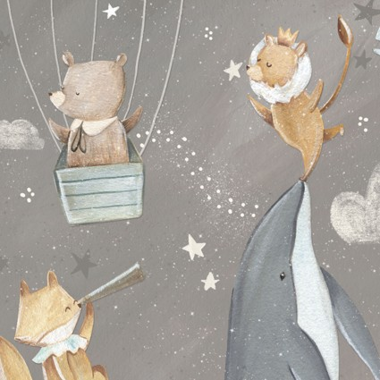 Adventures in the Sky - Sky, Gray by Bianca Pozzi for 3 wishes