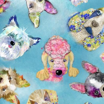 Good Dogs Too Heads 3WI14847-BLU