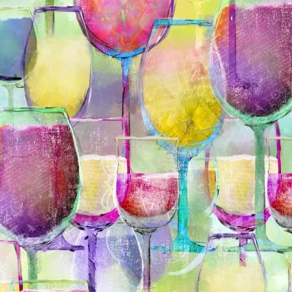 Sip & Snip Wine Glasses 14906-MUL