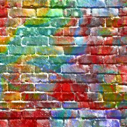 Sip & Snip Brick Wall 14907-MUL