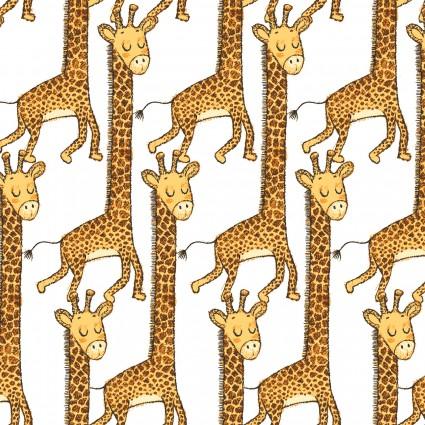 Playful Cuties 4 Flannel Giraffe White 14924-WHITE