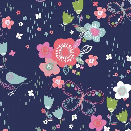 Hello Spring Navy Garden 3WI15972-NAV