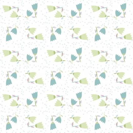 HELLO SPRING! TOSSED TULIPS WHITE