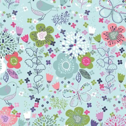 HELLO SPRING! FLOWER GARDEN TURQUOISE