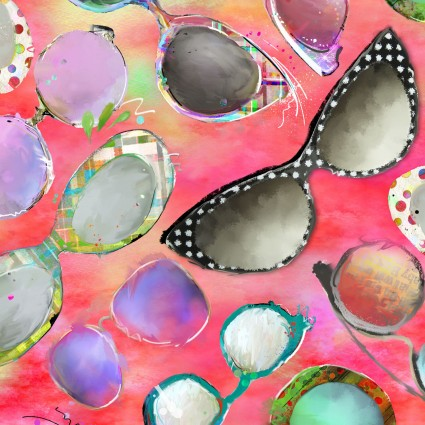 Sassier Animals Coral Sunglasses 15996-coral