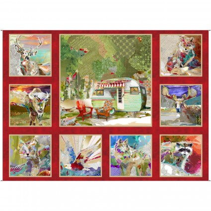 The Great Outdoors Panel 30in x 42in 16030-RED