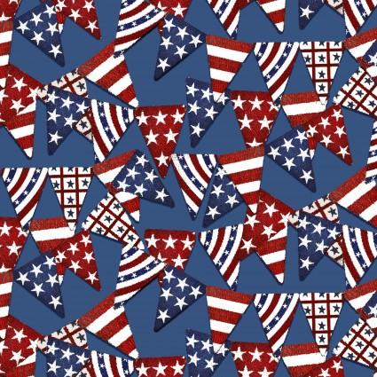 American Spirit blue  / patriotic pennants