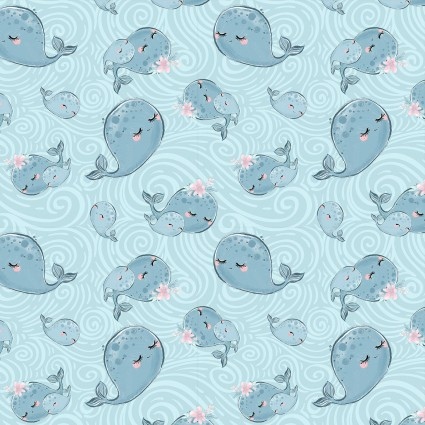 Mommy & Me Whales 16533-BLU-CTN-D