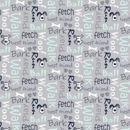 Poochie McGruff - Flannel - Gray