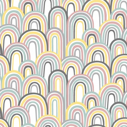 Small And Mighty - Rainbows*Flannel* - By Angela Nickeas For 3 Wishes Fabric