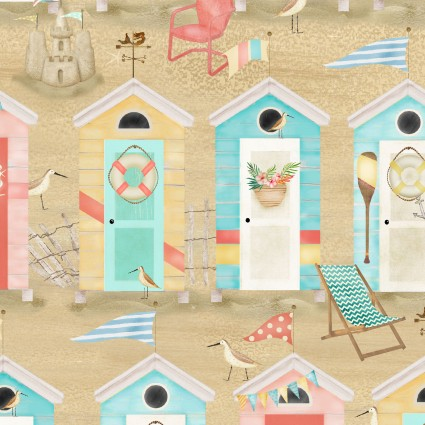 Pre-Order - Beach Travel - Beach Huts - Sand
