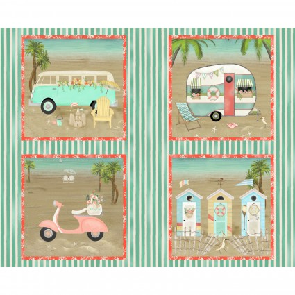Pre-Order - Beach Travel - Panel - Multi