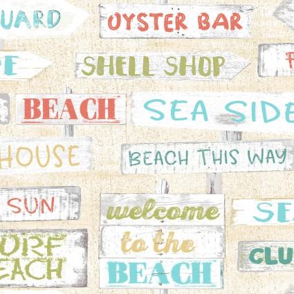 Beach Travel - Beach Signs - Cream
