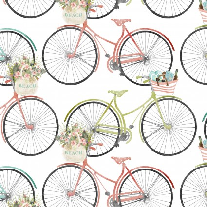Beach Travel Bicycles on White