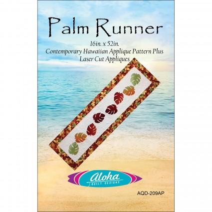 Aloha  Pattern Palm Runner - Red