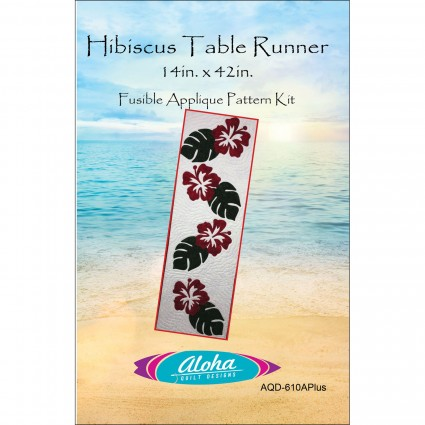 Aloha Pattern Hibiscus Table Runner