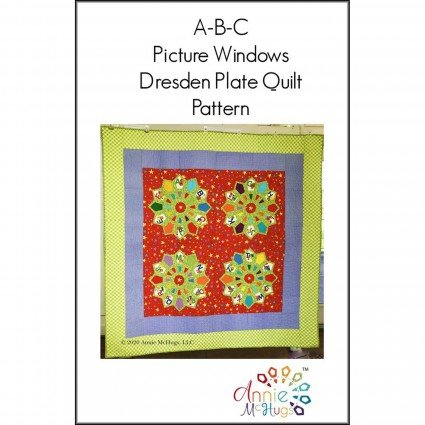 A-B-C Picture Windows Dresden Plate Quilt Pattern