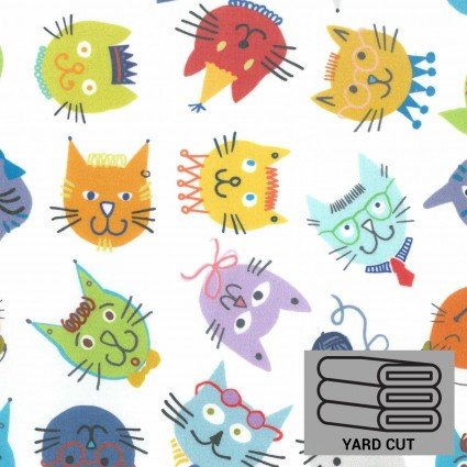 SPLASH FABRIC Laminated Cotton (Food Safe) COOL CATS