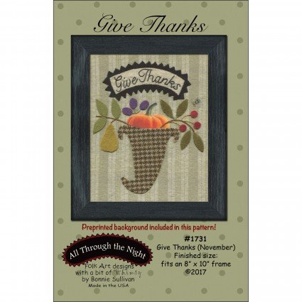 Give Thanks (November) Pattern Only
