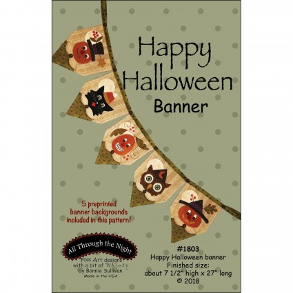 Happy Halloween Banner - Pattern Only