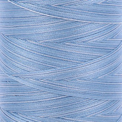 Aurifil Cotton Mako 40 Wt Large Spool Variegated - Stone Washed Denim 3770
