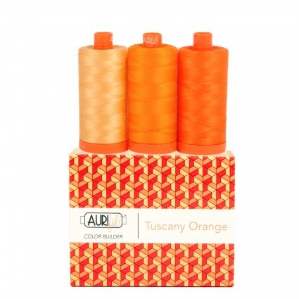 Aurifil Color Builder 3pc Set Tuscany-Orange