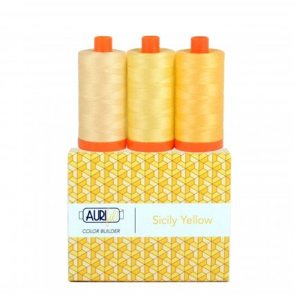 Aurifil Color Builder 3pc Sicily-Yellow