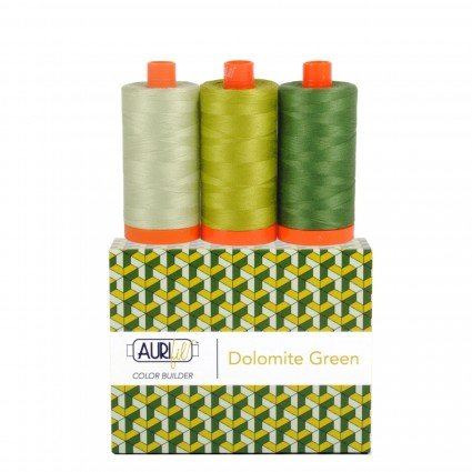 Aurifil Color Builder 3pc Set Dolomites-Green