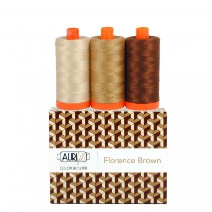 Aurifil Color Builder 3pc Set Florence-Brown
