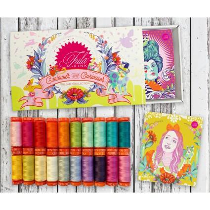 Tula Pink Curiouser & Curiouser Aurifil Thread Collection